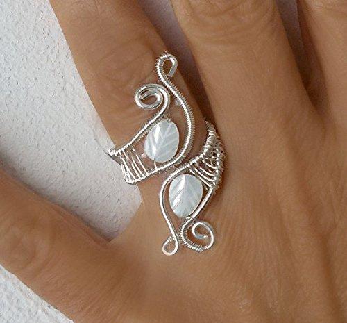 Draht, Gewickelt Ringe, Handgemachter silberner Draht wickelte ...