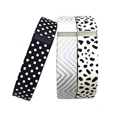 i-smile Replacement Bands with Metal Clasps for Fitbit Flex, Set of 3 with 2 Piece Silicon Fastener Ring