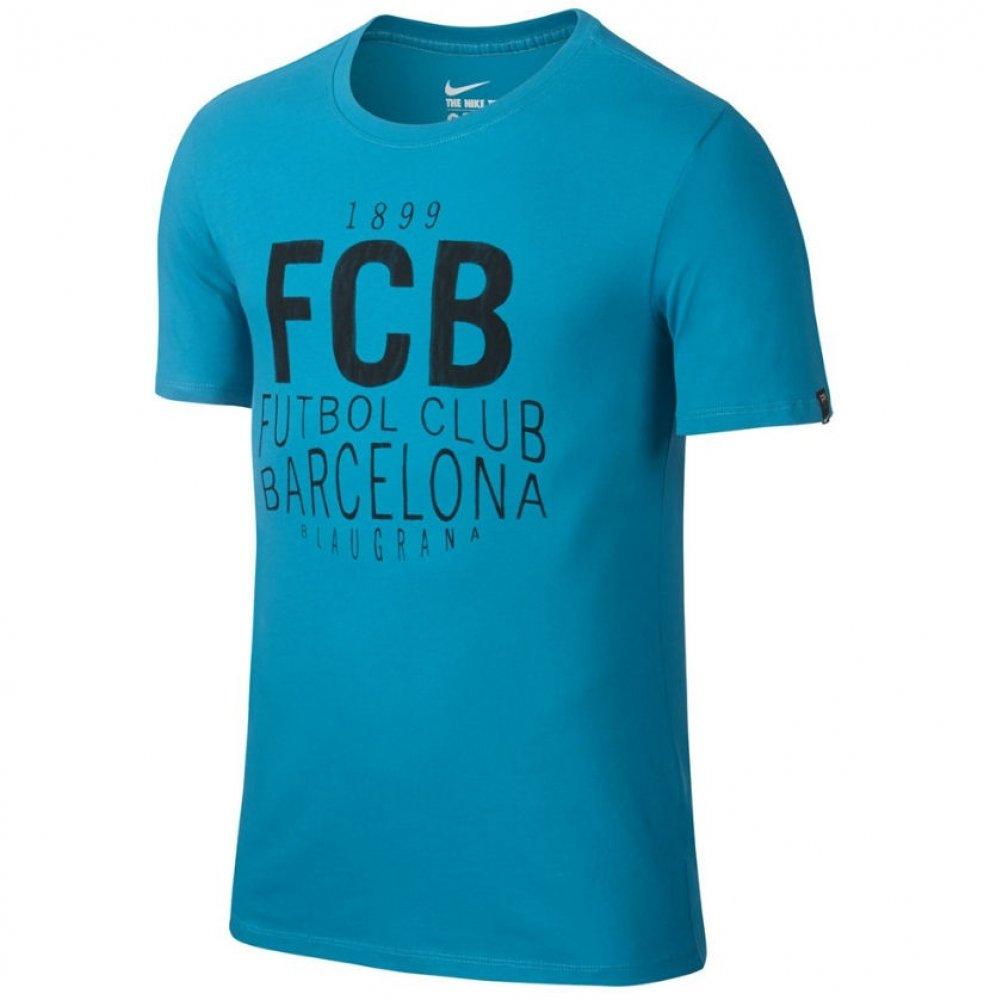 2016-2017 Barcelona Nike Squad Tee (Blue) B01LZQ5JOA Small 34-36
