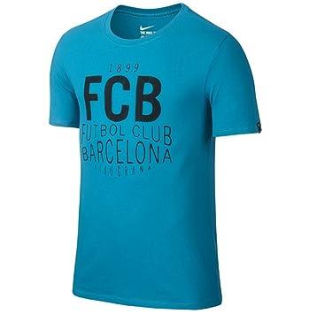 Nike Squad tee - Camiseta de Manga Corta Línea F.C. Barcelona para Hombre, Color Azul