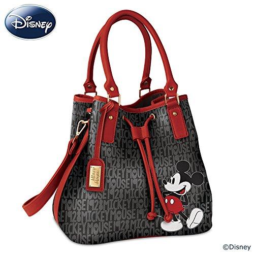 Disney Forever Mickey Mouse Women's Handbag With Luggage Tag by The Bradford (Handbag Tag)
