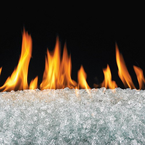 - Peterson Real Fyre 18-inch Clear Fire Glass Set With Vented Natural Gas G45 Burner - Match Light