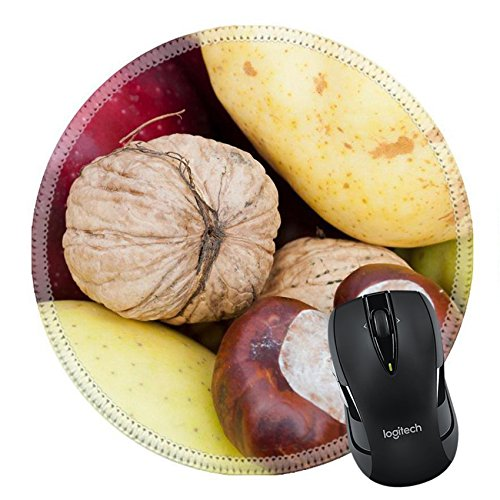 MSD Natural Rubber Mousepad IMAGE ID 33275539 Detail of decorative composed colorful autumn fruits and vegetables apple walnut corn pear