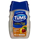 Tums E-X Antacid/Calcium Supplement, Extra Strength, Assorted Fruit, Chewable Tablets - 48 Tablets