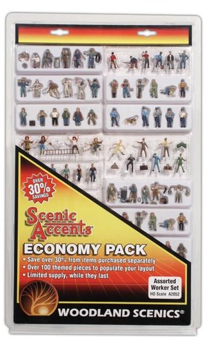 Woodland Scenics HO Economy Figure Assortment, WOOA2052