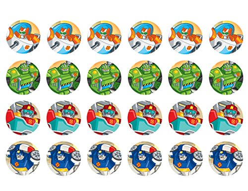 Rescue Bots ~ Cupcake Topper ~ Edible Frosting Image]()