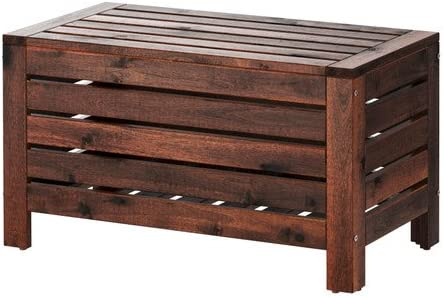 Set Giardino Rattan Ikea.Amazon Com Ikea Applaro Storage Bench Outdoor Brown Stained