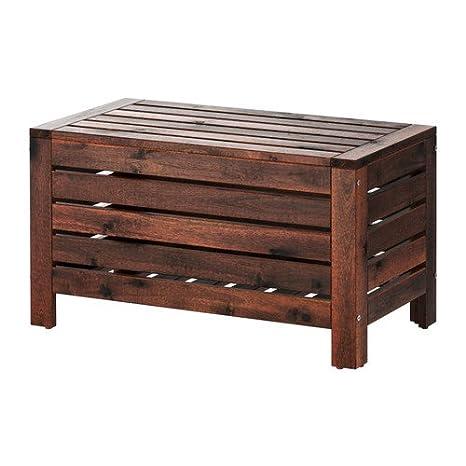 Fine Ikea Applaro Storage Bench Outdoor Brown Stained 702 049 23 31 1 2X16 1 8 Unemploymentrelief Wooden Chair Designs For Living Room Unemploymentrelieforg