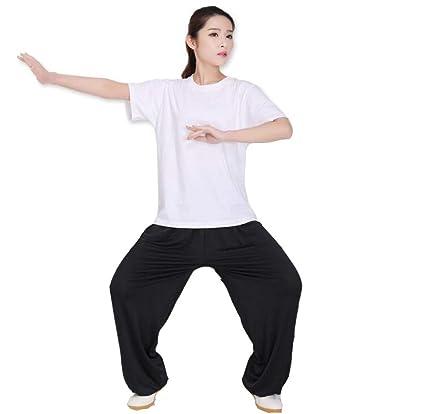 TAI CHI Hombres Mujeres Artes Marciales Pantalones Tela para ...