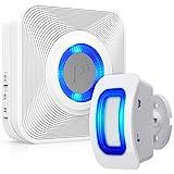 Fosmon WaveLink 51005HOM Wireless Home Security Driveway Alarm, Motion Sensor Detect Alert, Store Door Entry Chime Doorbell (150 Meters, 58 Tunes, 5 Volume Levels, LED Indicators) 1 Motion Detector