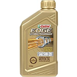 Castrol 06242 EDGE Extended Performance 5W-20 Advanced Full Synthetic Motor Oil, 1 Quart, 6 Pack