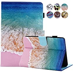 Kindle Paperwhite Case - Monstek Ultra Slim and Lightest PU Leather Case Cover with Auto Sleep/Wake for All-New Amazon Kindle Paperwhite (Fits all 2012, 2013, 2015 and 2016 Versions),Sea Beach