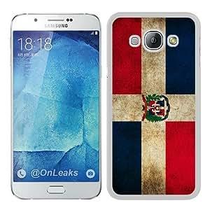 Samsung Galaxy A8 Case,Dominican Republic Flag White Samsung Galaxy A8 Phone Case