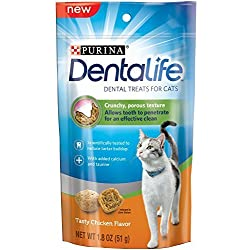 Purina DentaLife Chicken Flavor Dental Cat Treats 1.8 oz. Pouch, Pack of 10 by Purina DentaLife