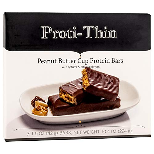 Proti-Thin – Peanut Butter Cup – Protein Bar – Ideal Protein Compatible – 15g Protein – Low Carb Diet Bar – Gluten Free 7 Box