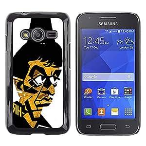 Caucho caso de Shell duro de la cubierta de accesorios de protección BY RAYDREAMMM - Samsung Galaxy Ace 4 G313 SM-G313F - Gangster Mafia Portrait Poster