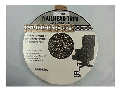 30 ft Upholstery NICKEL Tackstrips Roll Decorative Nail Strip Nailhead Trim USA (Brass Nailhead Trim)