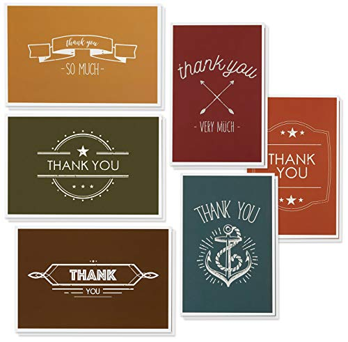 - Thank You Cards - 48-Count Thank You Notes, Bulk Thank You Cards Set - Blank on the Inside, Contemporary and Modern Font Style - Includes Thank You Cards and Envelopes, 4 x 6 Inches