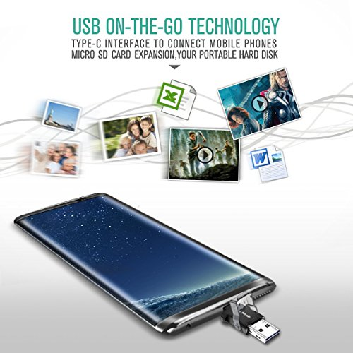 Nekteck USB Type C OTG Micro SD Card Reader with Additional Standard USB Port Connector (Micro SD Card is NOT Included) Samsung Galaxy Note 8 / S8/ S8 Plus, S9/ S9 Plus Pixel 2 More by Nekteck (Image #3)