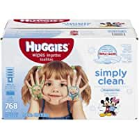 HUGGIES Simply Clean Refreshing Baby Wipes 768 Sheets WLM