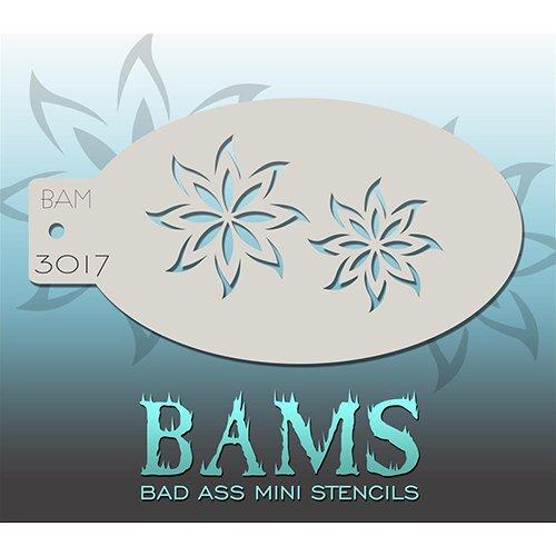 Bad Ass Flower Duo Mini Stencil -