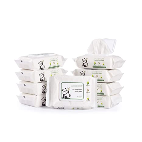 Amazon.com : ECO BOOM Bamboo Wipes Biodegradable, Eco Friendly 100% Baby  Wet Wipes for Sensitive and Newborn Skin 540 Count Unscented : Baby
