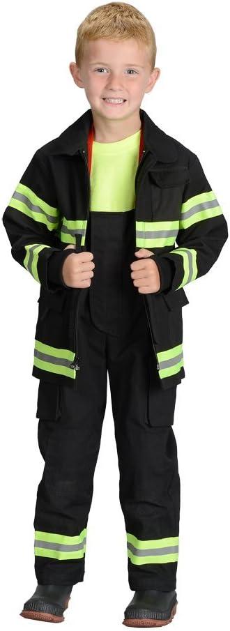 Aeromax Jr. Los Angeles Fire Fighter Suit, Black, Size 4/6. die Best #1 Award Winning Firefighter Suit. die am meisten Realistic Bunker Gear für Kids Everywhere. nur wie die realen Gear!