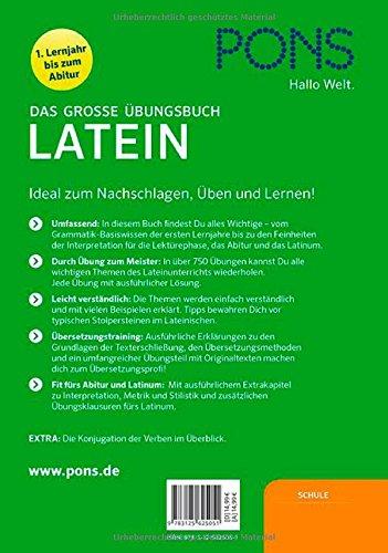 Pons Das Große übungsbuch Latein 1 4 Lernjahr Nachschlagen