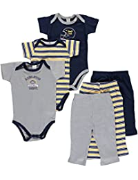 """Hudson Baby Baby Boys' """"#1 Draft Pick"""" 6-Piece Grow With Me Layette Set"""