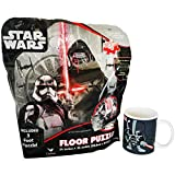 Star Wars Fun & Healthy Pack Bundle- 2 Items: Star Wars Episode 7 Floor Puzzle in Foil Bag (46pc) & Healthy Classic Darth Vader Ceramic 11.05 oz Mug