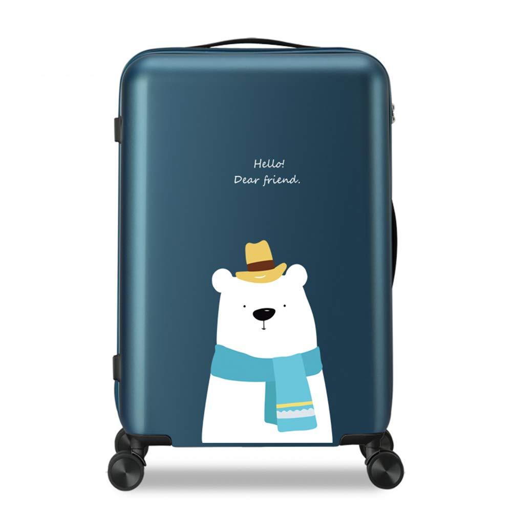 DS-トロリー Rolley Case - キズ防止と耐摩耗性、漫画かわいいペット、TSAコンビネーションロック、アルミ合金のレバー、サイレントユニバーサルホイール、旅行や出張に最適4カラー2サイズオプション && (色 : Dull bear, サイズ さいず : 40.5*26*59 cm) B07MNP2MB4 Dull bear 40.5*26*59 cm