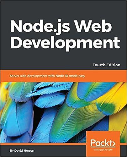 Amazon com: Node js Web Development: Server-side development