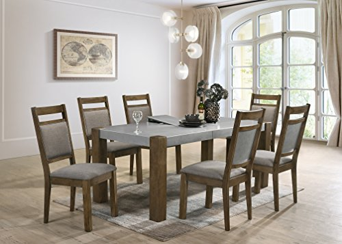 Roundhill Furniture D725-7PC Collection Costabella 7 PC Dining Set, Table with 6 Chairs ()