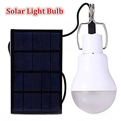 GS 15W Portable Solar Power LED Bulb Lamp Solar Panel Outdoor Lighting Camp Tent Fishing Light