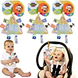 Taggies 3 Take-Along Baby Toys Interactive Stroller 0-3 Years Stroller Car Seat