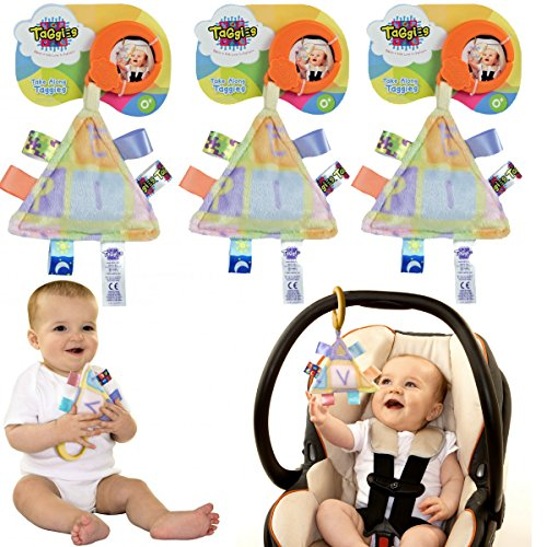 Taggies 3 Take-Along Baby Toys Interactive Stroller 0-3 Years Stroller Car Seat by Taggies