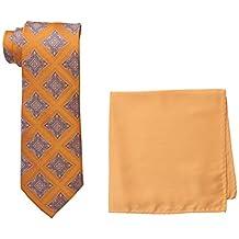 Steve Harvey Men's Medallion Necktie and Solid Pocket Square