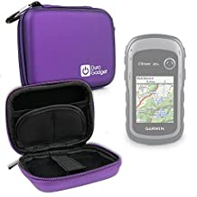 DURAGADGET Premium Quality Purple Hard EVA Shell Case with Carabiner Clip & Twin Zips for NEW Garmin eTrex 30x Handheld GPS Unit