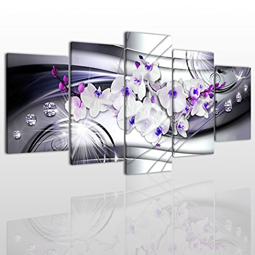 white and purple wall pictures - 5