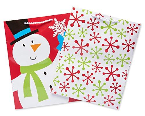 American Greetings Fun Holiday Large Gift Bag Bundle, 2 Count