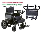 Drive Cirrus Plus EC Folding Power Wheelchair, 22'' Seat & FREE Medical Utility Bag Black! - #CPN22FBA
