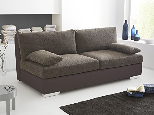 boxspring schlafsofa somerset braun 202x106cm dauerschl fer sofa schlafcouch schlafliege g nstig. Black Bedroom Furniture Sets. Home Design Ideas