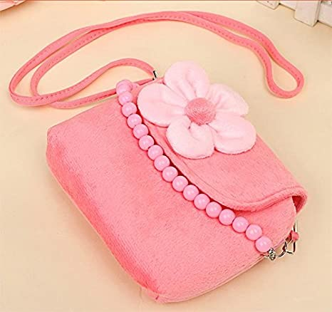 Fablcrew bolso princesa con flores de fieltro, con cuentas, para niñas pequeñas rosa rosa Talla:14x4x12cm: Amazon.es: Bebé