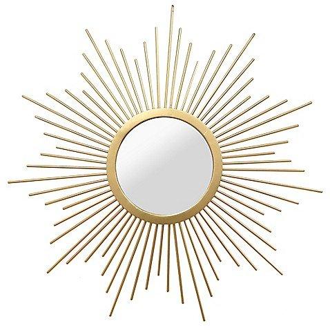 Bella Round Mirror - Stratton Home Décor 20-Inch Round Bella Wall Mirror in Gold
