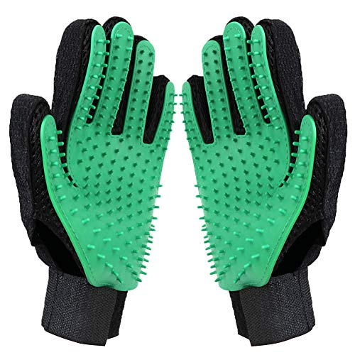 joy wisdom Pet Grooming Glove – Efficient Pet Hair Remover Mitt – Pet Massage Gloves – Gentle Deshedding Brush Glove…