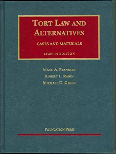 Download By Marc A. Franklin - Tort Law and Alternatives: Cases and Materials: 8th (eigth) Edition PDF, azw (Kindle), ePub, doc, mobi