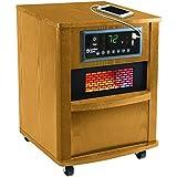 Comfort Zone 20 Inch Infrared Quartz Wood Cabinet Heater (Oak)