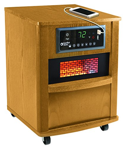 Comfort Zone 20 Inch Infrared Quartz Wood Cabinet Heater ...
