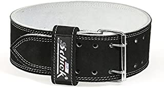 product image for IRON COMPANY Schiek Sports L6010 10cm Wide Suede Leather Double Prong Competition Power Lifting Belt - 9mm Thickness