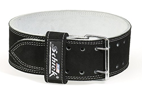 Schiek Sports L6010 10cm Wide Suede Leather Double Prong Competition Power Lifting Belt - 9mm Thickness by Ironcompany.com